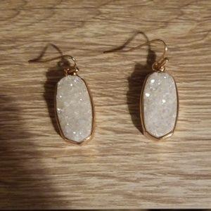 Kendra Scott white druzy earrings